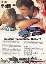 PUBLICITE DE PRESSE  MAQUETTE HELLER  ALPINE A 110  BERLINETTE   . 1976