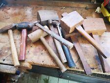 Vintage Hammers Mallets Job Lot X9