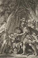 Meleager u. Atalante mit dem Eber. Illustration Griech. Mythologie, 18. Jh., Rad