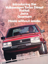 1983 VW Volkswagen Turbo Diesel Car Sales Brochure Folder - Jetta Quantum Rabbit