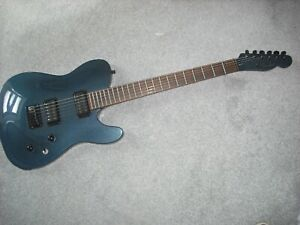 Fender Special Edition 2004 Blackout HH Telecaster,Atlantic Blue,Changed Pickups