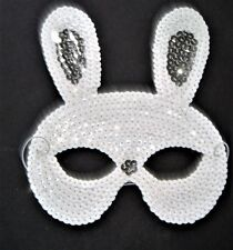 MASQUERADE CARNIVAL HEN PARTY FANCY DRESS KIDS / ADULTS WHITE RABBIT BUNNY MASK