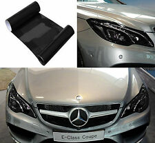 Fog Tail Headlight Cover Film Dark Black Decorative Vinyl Wrap 30*100cm For Benz