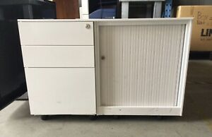 3 Drawer Filing Cabinet w/ Additional Side Storage   60.5cm T x 90cm W x 52cm D