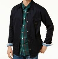 NEW MENS QUIKSILVER marbilly SNAP UP JACKET BLACK BLUE PLAID FLEECE LINED