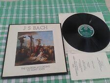 WRC371/2 - Bach - The Passion According To Saint John 2LP BOX SET**VINYL NM**