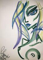 Margarita Bonke Malerei PAINTING erotica EROTIK Zeichnung akt nu art Alien Nude