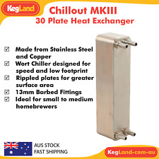 KegLand Chillout MKIII - 30 Plate Heat Exchanger Brewery Chiller Block Cooling