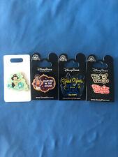 New ListingPrincess Jasmine Aladdin Disney Pin Lot of 4 pins Set #240 New Cards