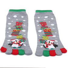 5 Fingers Socks Anime 5 Toes Socks Autumn Winter Cotton Snow Printed S