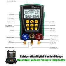 Test Refrigeration Digital Manifold Gauge Meter HVAC Vacuum Pressure Temp Tester