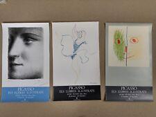 Set of 3 Pablo Picasso original Poster 1984
