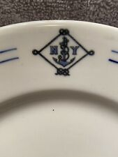 Rare 1900-12 N.Y. Navy Militia Dinner Plate Maddock China Mint