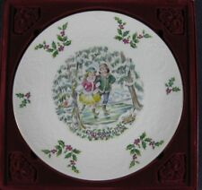 Royal Doulton 1977 Victorian Christmas Skaters Plate Boxed England Bone China