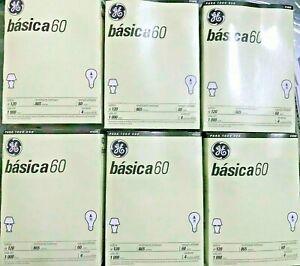 GE 41026 60-Watt 865-Lumen A19 Basic Light Bulb 4 Bulbs Each Pack (3-6-12 pack)