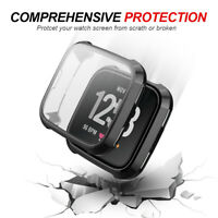2-Pack Soft TPU Screen Protective Protector Case Cover For Fitbit Versa Watch