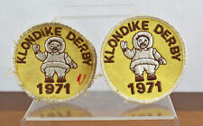 Vintage Pair (2) of Klondike Derby 1971 Eskimo Inuit Boy Scout BSA Patches