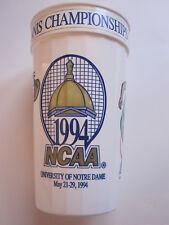 1994 Notre Dame Ncaa Division I Tennis Championship souvenir plastic cup