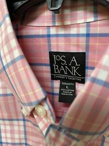 Jos.A.BANK Travelers Collection Men's Shirt Size L