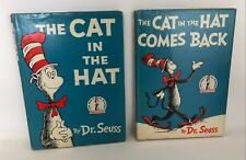 CAT in the HAT & CAT in the HAT COMES BACK Dr. Seuss Vintage HB/DJ