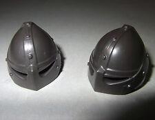 06058, 2x Helm, Drachenland, antrazit