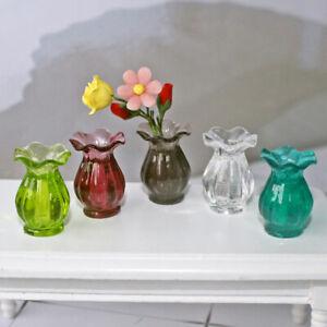 Dollhouse Miniatures 1:12 Mini Ceramic Pot DIY Ceramic Ornament Decora O OH