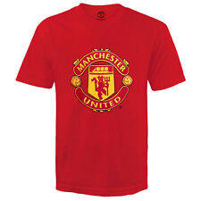 Manchester United FC Official Gift Kids Crest T-shirt Red 10-11 Years