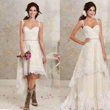 2 Pieces in 1 Short Wedding Dresses Vintage Western Country Wedding Bridal Gown