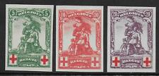 Belgium stamps 1914 OBP 126-128 Imperforated PROOFS UNG(as issued) VF RED CROSS