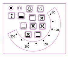 Vinyl Stove, Oven Temperature Stickers (50 - 250) Plus 13 Oven Symbols