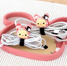 FD4907 Sentimental Circus Pink Rabbit Earphone Cable Bobbin Winder Holder 1pc