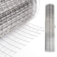 Drahtgitter 4-Eck Verzinkt 1 x 25M Volierendraht Schweißgitter Maschendraht Zaun