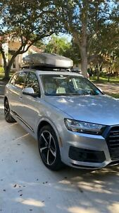 Black Roof Rack Cross Bars for Audi Q7 2017-2021