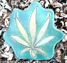 Concrete plaster weed pot leaf marijuana leaf mould