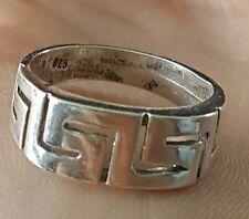 BAGUE EN ARGENT MASSIF ET DECO GRECS BIJOUX ANCIEN silver ring