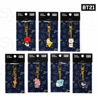 BTS BT21 Official Authentic Goods Metal Keyring Universtar Ver + Tracking Number