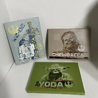 Artissimo Star Wars Set Of 3 Canvas Pieces - Chewbacca, Yoda, R2D2 & C3PO