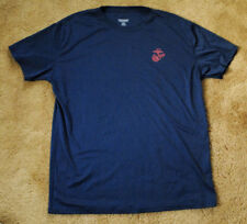 USMC MARINES blue t shirt size XL short sleeve MADE IN USA