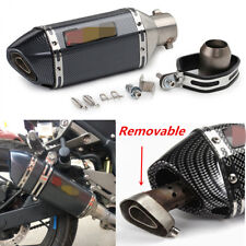 Universal Carbon Pattern Motorcycle Exhaust Muffler Pipe 300mm +DB Killer Baffle