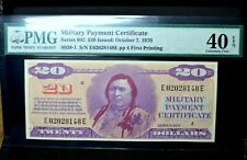 $20 MILITARY PAYMENT CERTIFICATE ✪ PMG 40 EPQ ✪ SERIES 692 S-938-1 MPC ◢TRUSTED◣