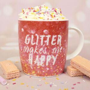 Glitter Mug - 'Glitter Makes Me Happy' - Boxed