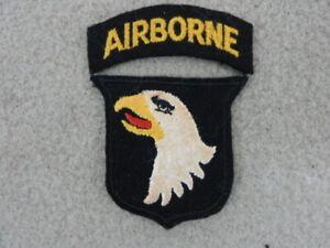 RARE ORIGINAL WW 2 FELT ENGLISH MADE 101ST AIRBORNE DIVISION PATCH