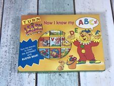 Turn And Learn Blocks - Now I Know My ABC 1998 Tormont Publications  Buster Bear