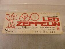 LED ZEPPELIN CONCERT TICKET 1972 TOKYO BUDOKAN HALL