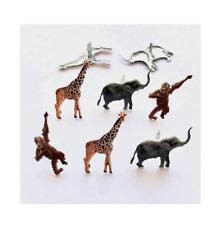 Brads - Bulk - Jungle animals zoo animal safari giraffe monkey elephant - pk 15