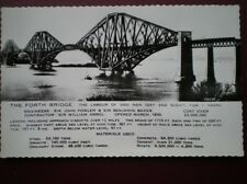 POSTCARD RP EDINBURGH THE FORTH BRIDGE - THE LABOUR OF 5000 MEN