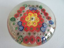 Old Chinese Art Glass Paperweight Complex Millefiori Cane 3.10 China Large