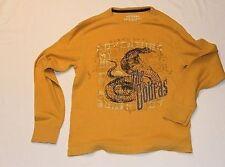 TB0075 ARIZONA Herren  Langarm Shirt Oker mit Print Senf Gr. L TOP