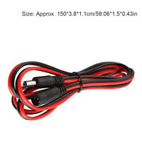 150cm DC5521 Power Cable Male to Female Plug Extension Cord Adapter