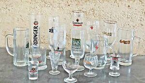 Rare Collectable German Beer Glasses, Steins, Mugs, Shots Bar Mancave Pub Select